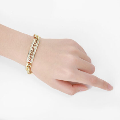 Bratara eleganta lata placata aur mana