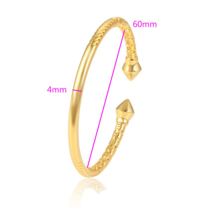 Bratara eleganta rigida placata aur dimensiuni