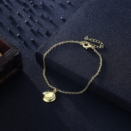 Bratara placata aur pandantiv luna fata