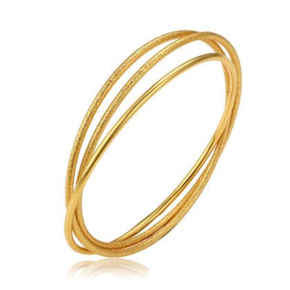 Bratara rigida cercuri placata aur 24K