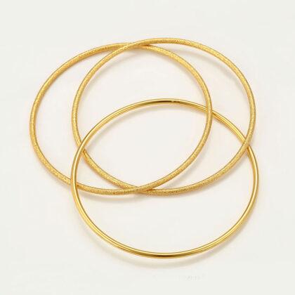 Bratara rigida cercuri placata aur 24K sus