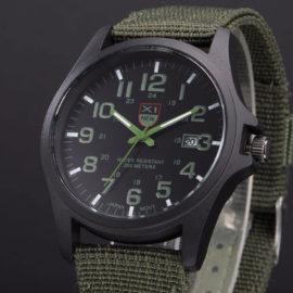 Ceas barbati military verde cadran negru