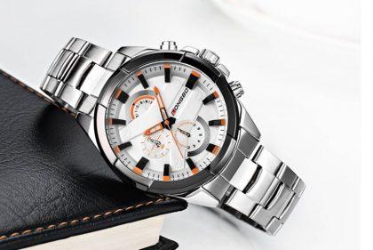Ceas barbati stainless steel Longbo profil