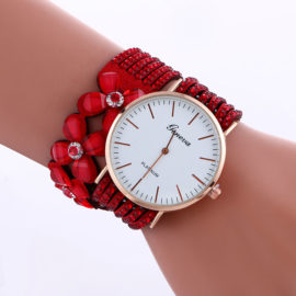 Ceas cu cristale rosii Geneva