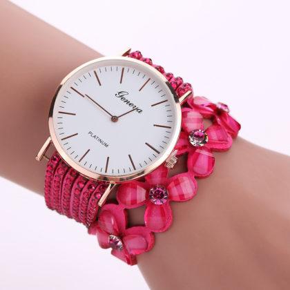 Ceas cu cristale roz Geneva