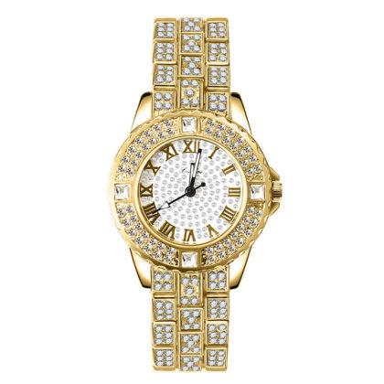 Ceas dama auriu cristale elegant
