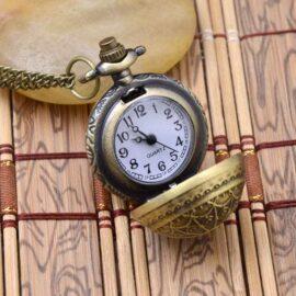 Ceas de buzunar mic barbati bronz