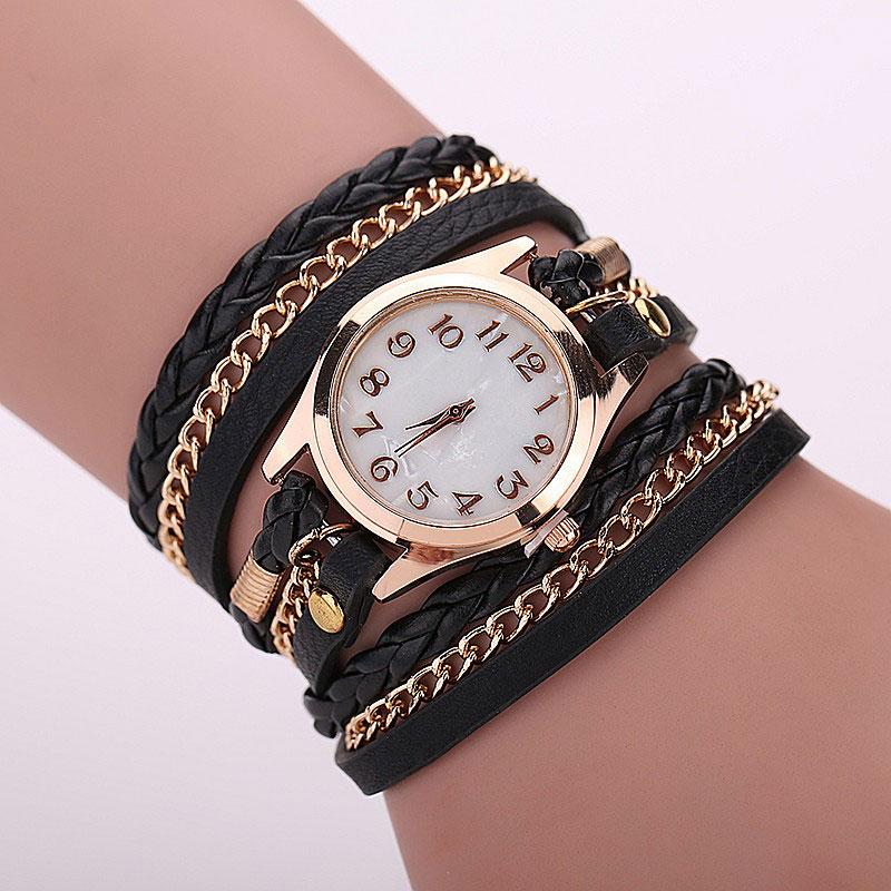 Ceas de mana negru Relogio Feminino