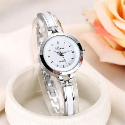 Ceas elegant argintiu Quartz