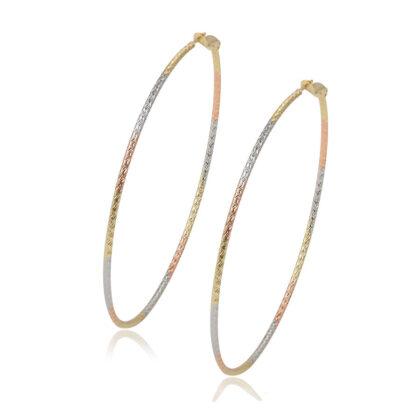 Cercei cercuri placati aur multicolor