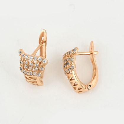 Cercei dama eleganti placati aur sus