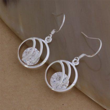 Cercei eleganti argint cu cristale Sara profil