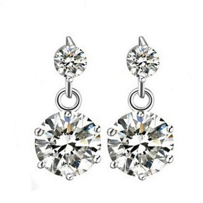Cercei eleganti argint cu pietre zirconiu