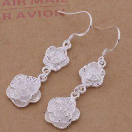 Cercei eleganti argint trandafir Sara