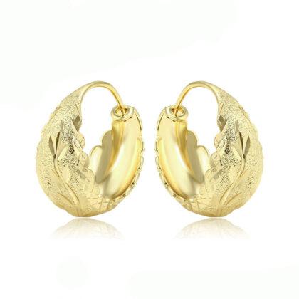 Cercei eleganti lati placati aur