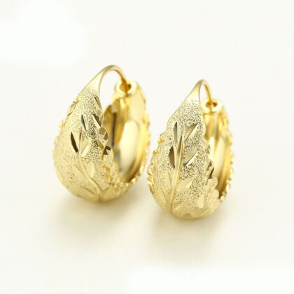 Cercei eleganti lati placati aur fata