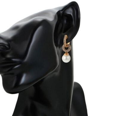 Cercei eleganti perla placati aur model