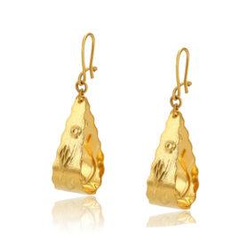 Cercei eleganti placati aur