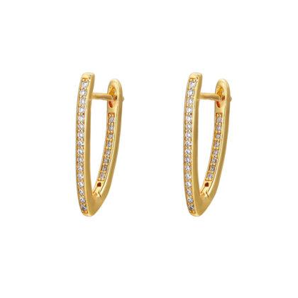 Cercei eleganti placati aur cu cristale
