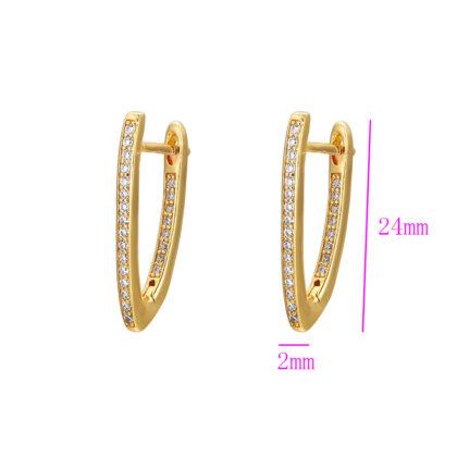 Cercei eleganti placati aur cu cristale dimensiuni