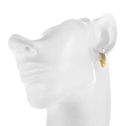 Cercei eleganti placati aur cu perle model