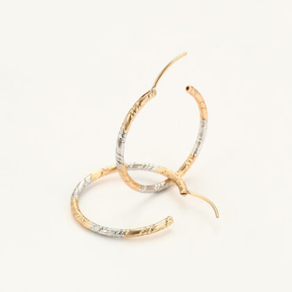 Cercei eleganti placati aur multicolor profil