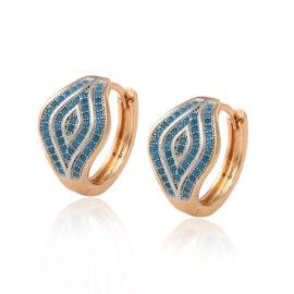 Cercei eleganti placati aur pietricele turcoaz