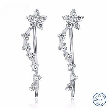 Cercei floricele argint 925 cristale zirconiu
