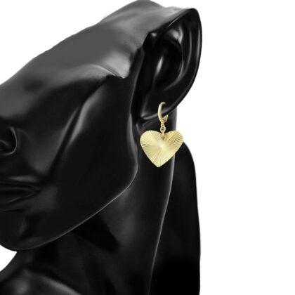 Cercei inimioara placati aur 24K model