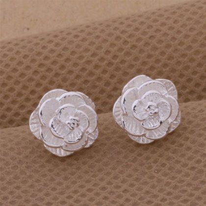 Cercei mici argint trandafir Sara sus