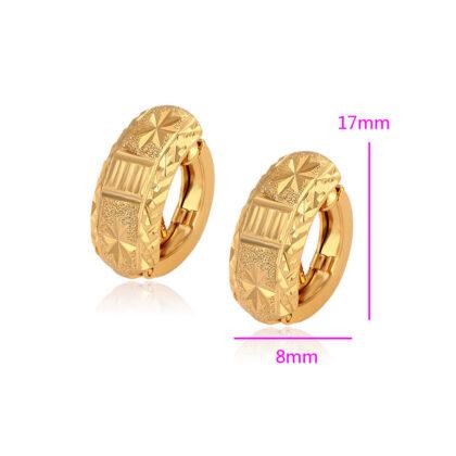 Cercei mici eleganti placati aur 24K dimensiuni