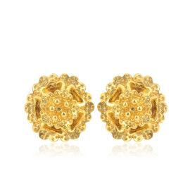 Cercei mici floricica placati aur 18K
