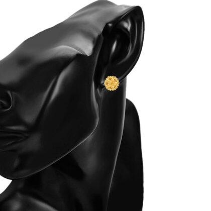 Cercei mici floricica placati aur 18K model