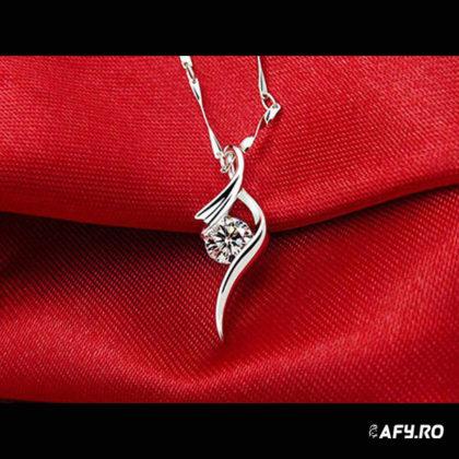 Colier argint 925 cristal zirconiu