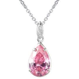 Colier argint 925 elegant cristal roz