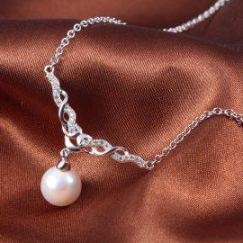 Colier argint 925 elegant perla