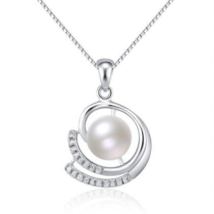 Colier argint 925 elegant perla naturala