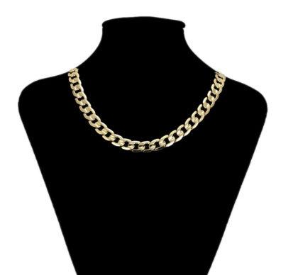 Colier elegant unisex placat aur 18K bust