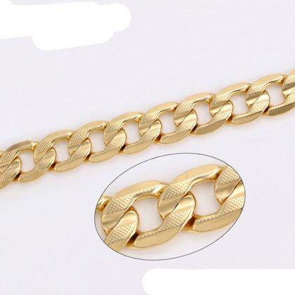 Colier elegant unisex placat aur 18K sus