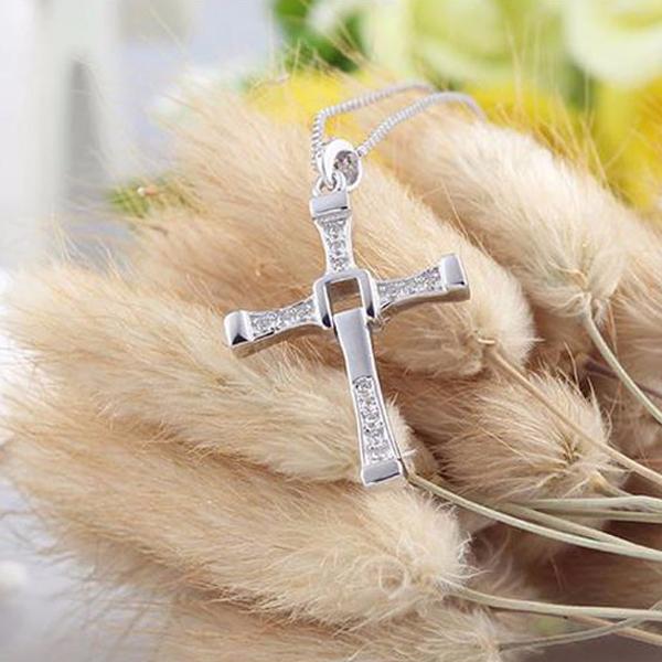Colier pandantiv cruciulita argint 925