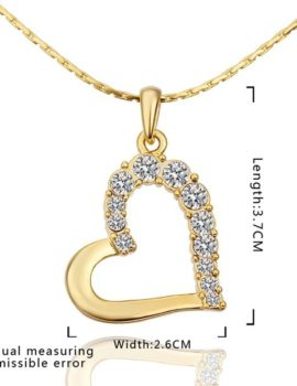 Colier placat aur cu pandantiv inimioara