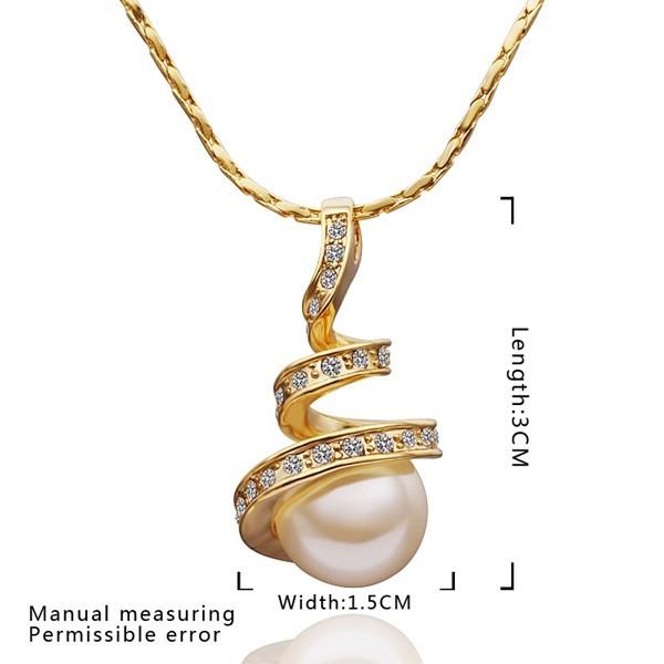 Colier placat aur cu pandantiv si perla