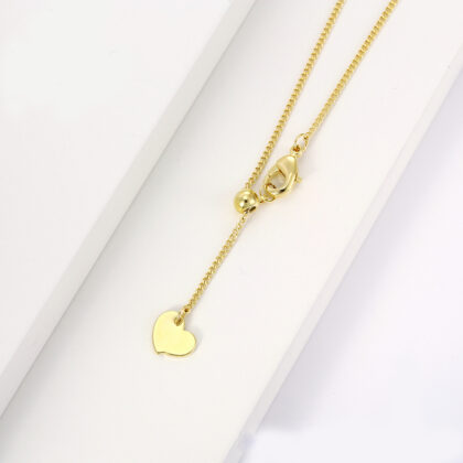 Colier placat aur dama inimioara inchizatoare