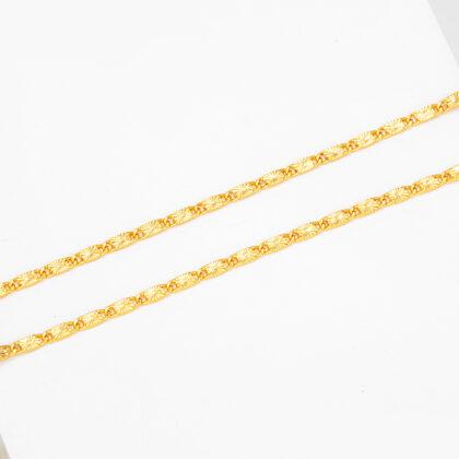 Colier placat aur finut unisex sus