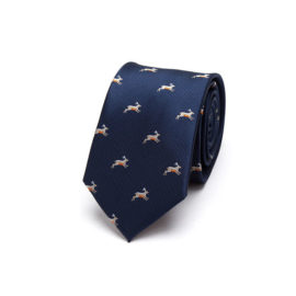 Cravata barbati eleganta animal print