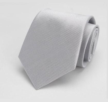 Cravata barbati eleganta argintie