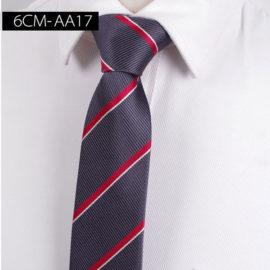 Cravata barbati gri cu dungi oblice