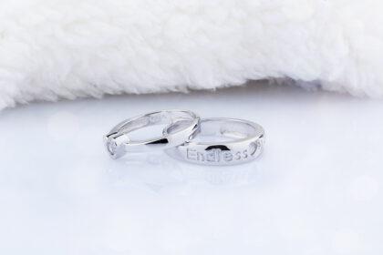 Inele cuplu argint 925 ajustabile inimioare sus