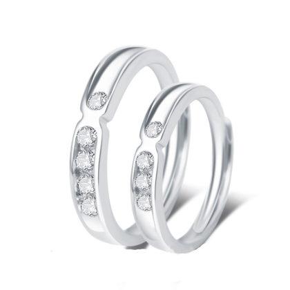 Inele cuplu argint 925 zirconiu