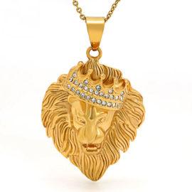 Lant placat aur pandantiv regele animalelor